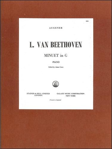 Beethoven, Ludwig Van: Minuet In G