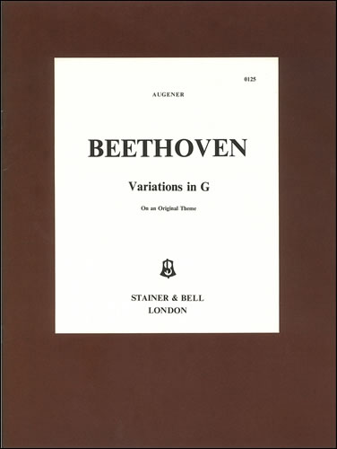 Beethoven, Ludwig Van: Variations On An Original Theme In G, Nine. WoO77