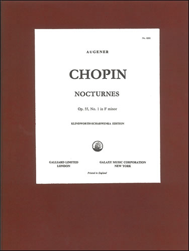 Chopin, Frédéric François: Nocturne In F Minor, Op. 55, No. 1