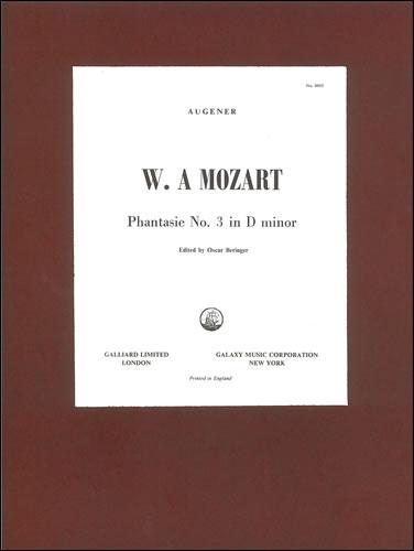 Mozart, Wolfgang Amadeus: Phantasie In D Minor, K.397