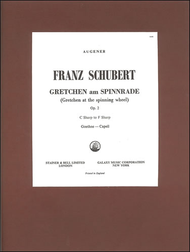 Schubert, Franz: Gretchen Am Spinnrade ('Gretchen At The Spinning Wheel'). B Minor