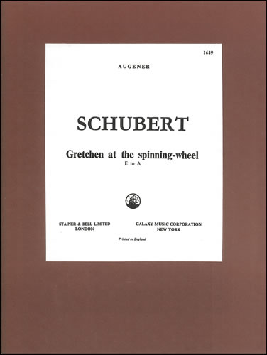 Schubert, Franz: Gretchen Am Spinnrade ('Gretchen At The Spinning Wheel'). D Minor