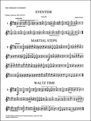 Carse, Adam: Fiddler's Nursery: Extra Violin Part