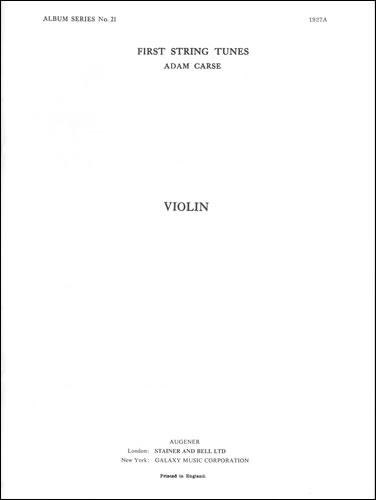 Carse, Adam: First String Tunes: Extra Violin Part