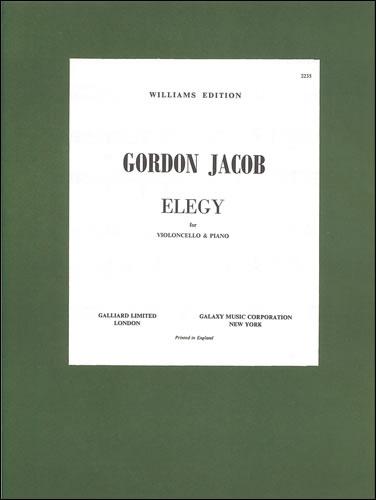 Jacob, Gordon: Elegy For Cello And Piano