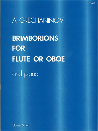 Grechaninoff, Alexander: Brimborions For Flute (or Oboe) & Piano