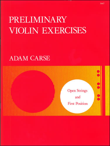 Carse, Adam: Preliminary Violin Exercises