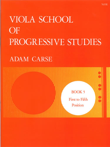 Carse, Adam: Viola School Of Progressive Studies. Book 5