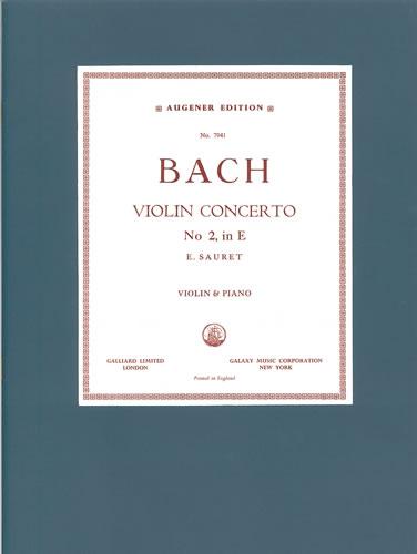 Bach, Johann Sebastian: Concerto In E (BWV 1042)