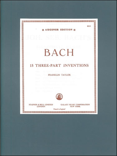 Bach, Johann Sebastian: Inventions, The Three-Part. BWV 787-801