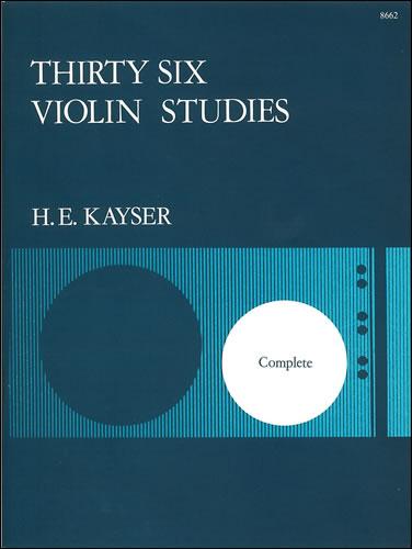 Kayser, Heinrich Ernst: Thirty-six Studies, Op. 20