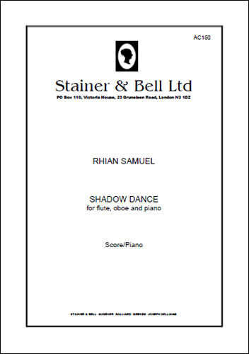 Samuel, Rhian: Shadow Dance For Flute, Oboe And Piano
