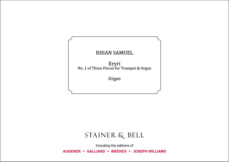 Samuel, Rhian: Eryri (No. 1 Of Three Pieces For Trumpet & Organ)