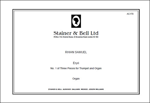 Samuel, Rhian: Eryri (No 1 Of Three Pieces For Trumpet & Organ)