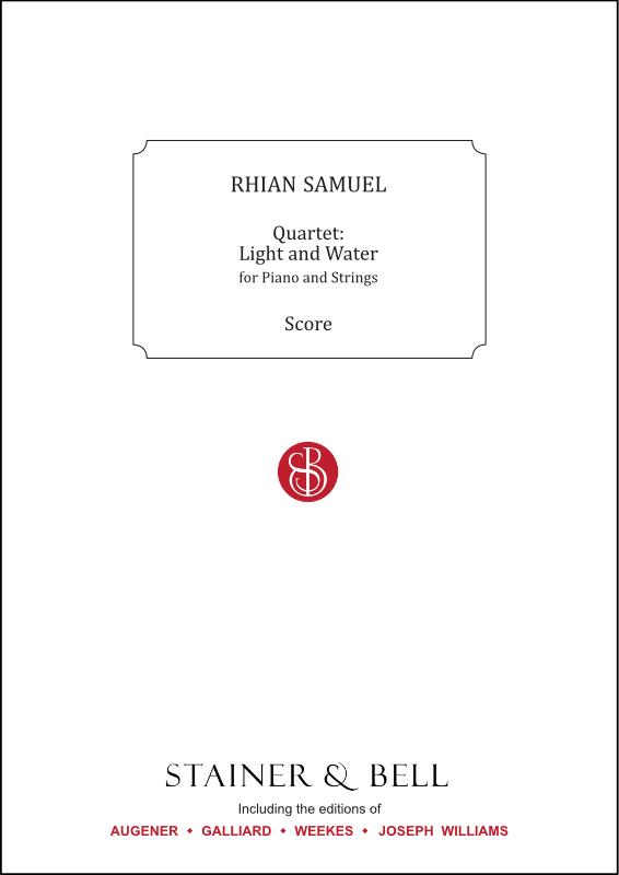 Samuel, Rhian: Quartet: Light And Water