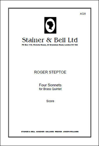 Steptoe, Roger: Four Sonnets For Brass Quintet