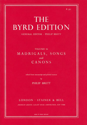 Madrigals, Songs And Canons