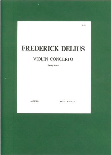 Delius, Frederick: Concerto For Violin And Orchestra. Study Score