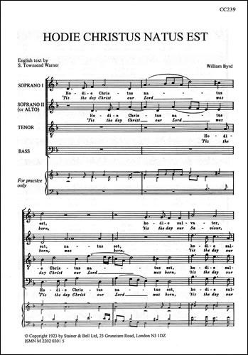 Byrd, William: Hodie Christus Natus Est