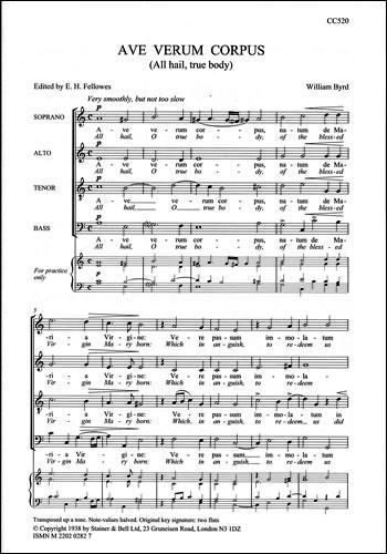 Byrd, William: Ave Verum Corpus (All Hail True Body)