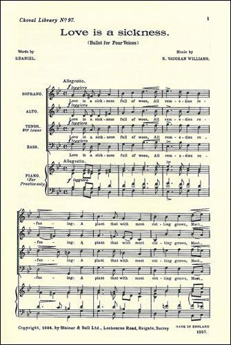Vaughan Williams, Ralph: Love Is A Sickness