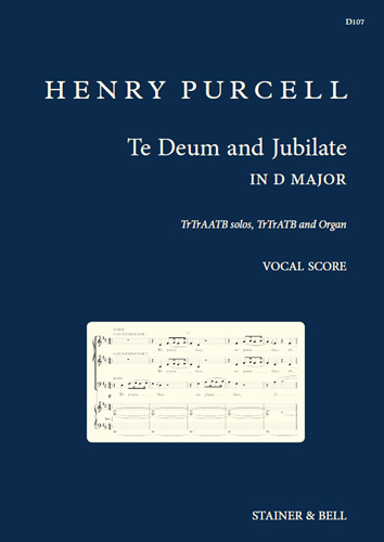 Purcell, Henry: Te Deum And Jubilate In D Major. Vocal Score.