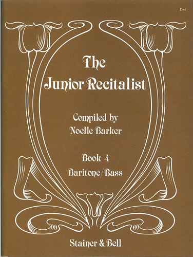 The Junior Recitalist Book 4. Baritone/Bass