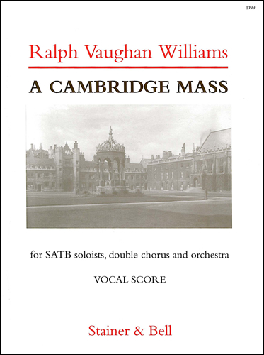 Vaughan Williams, Ralph: Cambridge Mass, A. Vocal Score