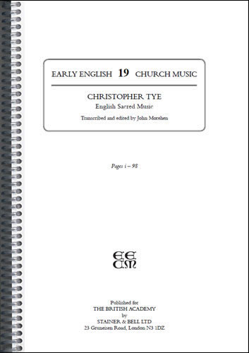 Tye, Christopher: I – English Sacred Music