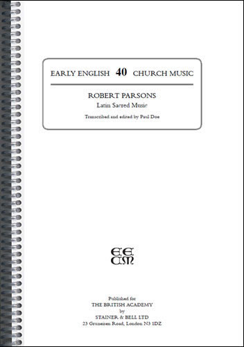 Parsons, Robert: Latin Sacred Music