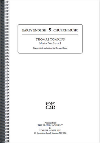 Tomkins, Thomas: Musica Deo Sacra: I