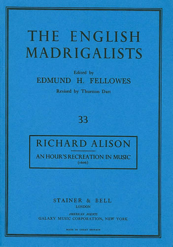 Alison, Richard: An Hour's Recreation In Musicke (1606)