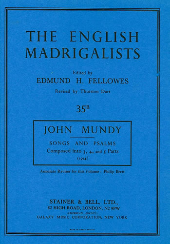 Mundy, John: Songs And Psalms (1594)