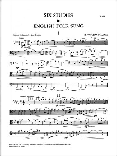 Vaughan Williams, Ralph: Six Studies In English Folk Song. Bassoon Part
