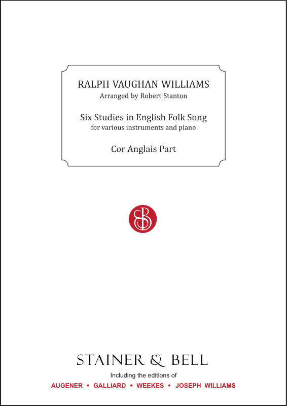 Vaughan Williams, Ralph: Six Studies In English Folk Song. Cor Anglais Part