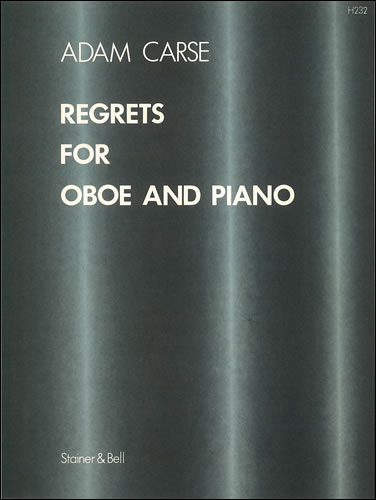 Carse, Adam: Regrets For Oboe And Piano