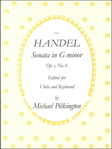 Handel, George Frideric: Sonata In G Minor, Op. 1, No. 6 For Viola And Piano