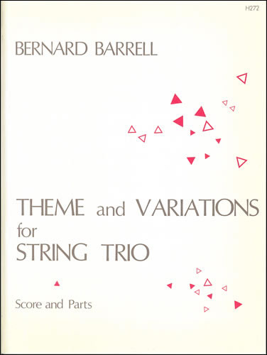 Barrell, Bernard: Theme And Variations For Violin, Viola And Cello