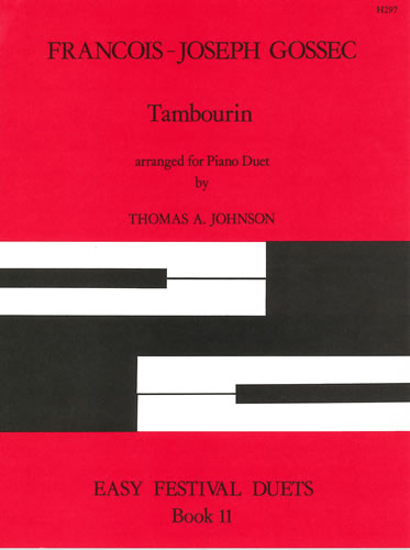Gossec, François-Joseph: Tambourin. Arranged By Thomas A. Johnson