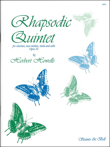 Howells, Herbert: Rhapsodic Quintet, Op31. (1917) Clarinet, Two Violins, Viola And Cello