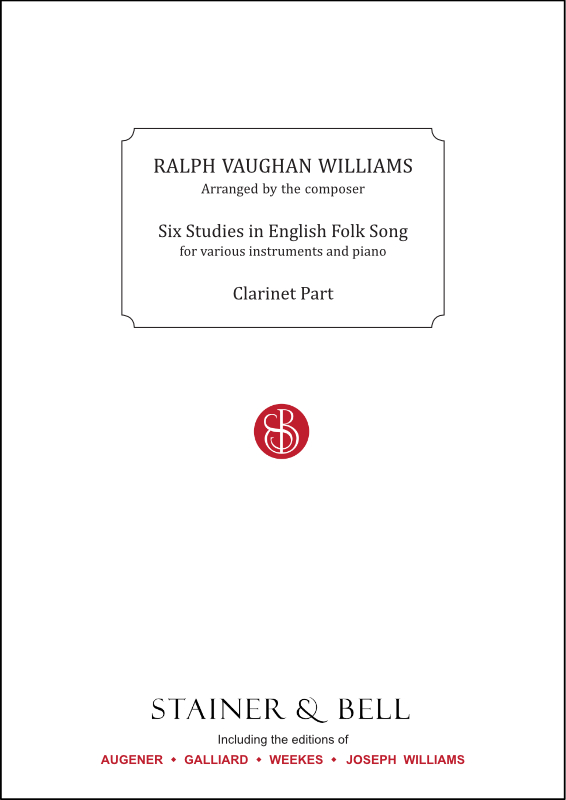 Vaughan Williams, Ralph: Six Studies In English Folk Song. Clarinet Part