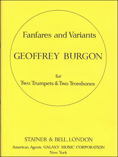 Burgon, Geoffrey: Fanfares And Variants On The Agnus Dei From Mass By Guillaume De Machaut