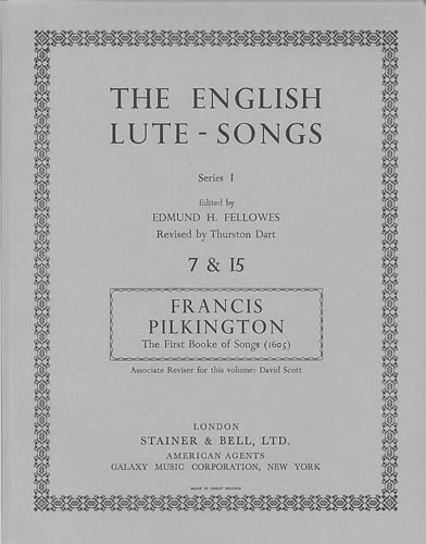 Pilkington, Francis: The First Booke Of Songs (1605)