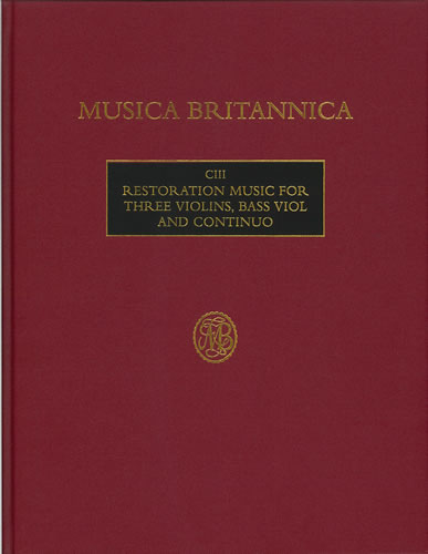 Restoration Music For Three Violins, Bass Viol And Continuo