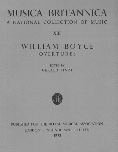 Boyce, William: Overtures For Orchestra
