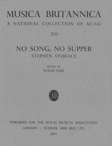 Storace, Stephen: No Song, No Supper