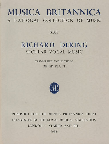 Dering, Richard: Secular Vocal Music