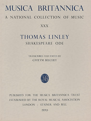 Linley Jnr, Thomas: A Shakespeare Ode