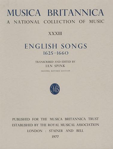 English Songs 1625-1660