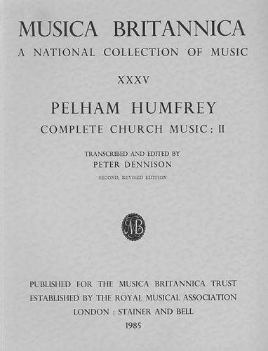 Humfrey, Pelham: Complete Church Music II